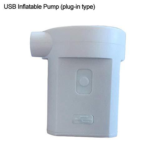 Euopat Elektrische Luftpumpe , Luftmatratze Luftbettpumpe Tragbare Luftpumpe Luftpumpe für Schwimmbäder, Boote, Flöße, Luftbetten, aufgeblasenes Spielzeug