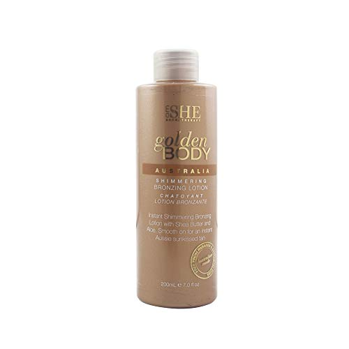 om SHE Aromatherapy Golden Body Sunless Tanning Shimmering Bronzing Lotion