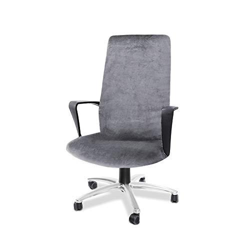 CAVEEN Bürostuhl Bezug, Bezug für Bürostuhl Computerstuhl Bürostuhl husse Drehstuhl bezug drehbar abnehmbar Bürostuhl Überwurf Bezug für Sessel Schonbezug für Büro (Grau, Large)