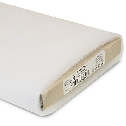 Expo International 54-Inch Classic Nylon Tulle Fabric, 25-Yard Bolt, White