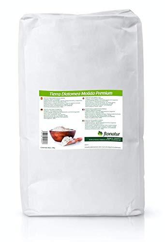 Tierra diatomea molida Natural 25kg, múltiples usos, Tratamiento eficaz contra Insectos y Fertilizante Natural (Molida, 25Kg)
