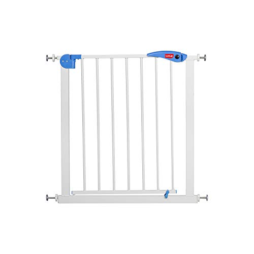 LuvLap Indoor Baby Safety Gate with Auto Close Feature, Kids Safety gate for Door Way Size 76 to 85 cm Wide, Staircase gate Baby Safety, White