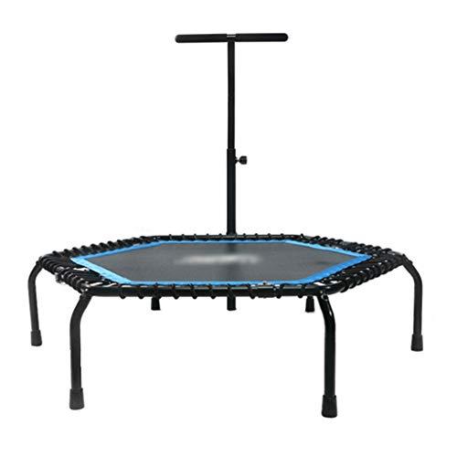 LiWeiHome Cama Elástica Cama Elástica Plegable Mini Trampolín Trampolines De Fitness For Adultos Trampolín Cubierto Aptitud Rebounder Máximo De Carga 150KG (Color : Blue, Size : 50 Inch)