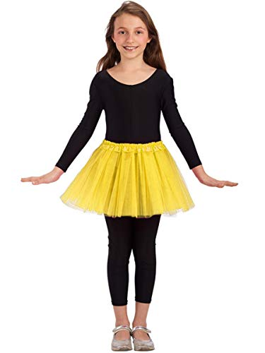 Tule rok voor meisje - klassieke dans - rok - meisje - 3 lagen - tutu - 2/7 jaar - ballet - kostuum - vermomming - carnaval - cadeau-idee - kerstmis - geel