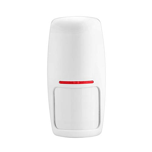 ERAY Rilevatore di Movimento Wireless PIR Volumetrico per Allarme Antifurto, per sistema di allarme T1 e H3, 433MHZ, Batterie incluse
