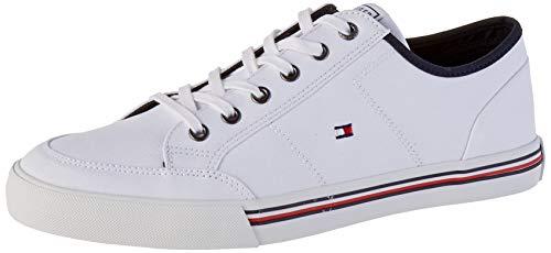 Tommy Hilfiger Herren CORE Corporate Textile Sneaker, Weiß (White Ybs), 41 EU