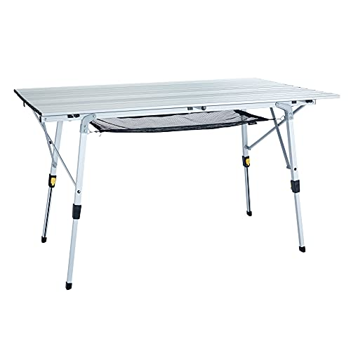 Uquip Variety L, Mesa de aluminio 120 x 70cm con altura regulable