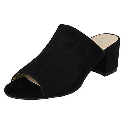 Anne Michelle Square Toe - Chaussures Talons Hauts - Femme (39 EU) (Noir)