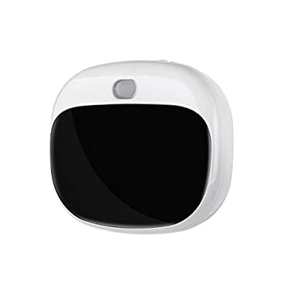 ECARE 2G 3G 4G Smart Mini Pet Dog GPS Tracker Long Battery Life Cat Dog Tracking Device Finder with Smart LED Sensor Light GEO-Fence and Support Most Maps Pet Activity Monitor (White)