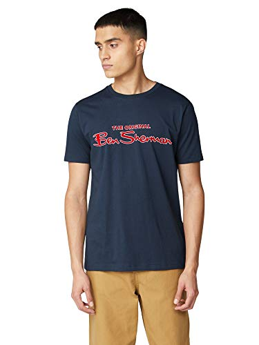 Ben Sherman Signature Logo tee Camiseta, Azul (Dark Navy 25), XXX-Large para Hombre