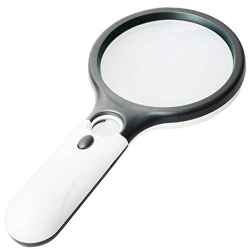 NO LOGO LT-Home, 1pc 3 LED-Licht-Objektiv Multiple 3X 45X Handminitaschen-Mikroskop-Lesevergrößerungsglas-Objektiv Schmuck Loupe