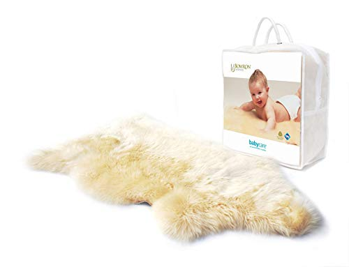 New Zealand Natural Lambskin Pelt for Baby (Bone) (37