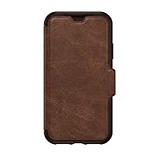 pas cher un bon Étui à rabat élégant en cuir véritable résistant aux chocs pour Otterbox Strada Slim / iPhone X / XS Marron…