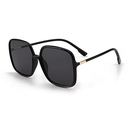 Anti-UV Gafas De Sol para Mujer Moda, Marco De Gafas ProteccióN para ConduccióN Gafas De Deportes Al Aire Libre De Pesca De Moda Regalo De San ValentíN (Color : Black)