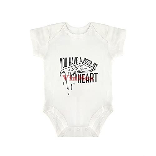Lindo body para bebé que tienes a pizza My Heart Baby Onesie,Body infantil para niña