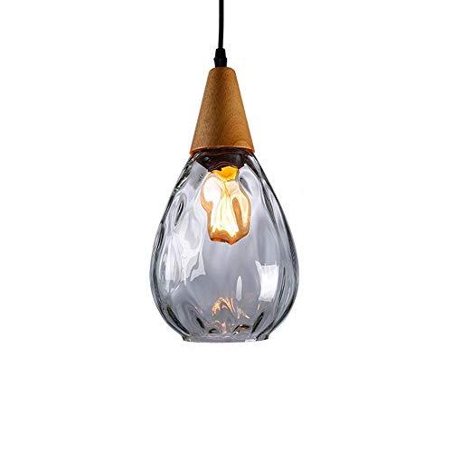 Mini lámpara colgante moderna, cortina de vidrio soplado a mano, lámpara de ahorcamiento de Edison de la casa de campo ajustable de la vendimia para la cocina de la isla Comedor del dormitorio XYJGWDD
