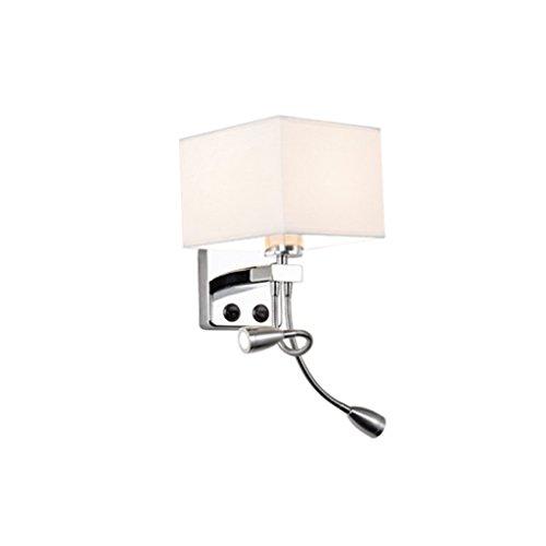 MEILING Lire Creative Cloth Modern Minimalist Living Room Chambre à coucher Balcon de l'hôtel Hallway Wall Lamp Lampe de chevet LED avec interrupteur (Couleur : Blanc)