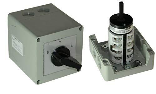 AW-Tools 25A Stern-Dreieck-Schalter 25A gekapselt 7,5 kW IP65 Industrieschalter GN 25-12-PC1