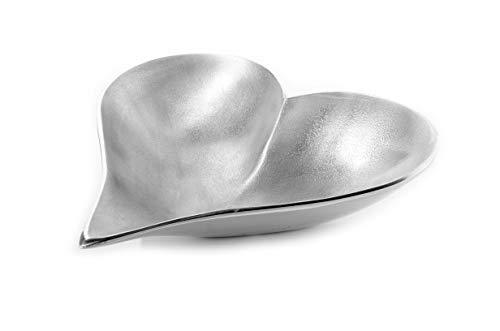 Get Wire Dekoschale, Schale Dekoration, Aluminium Schale, Schale, Aluminium Schale gebürstet - Herzform