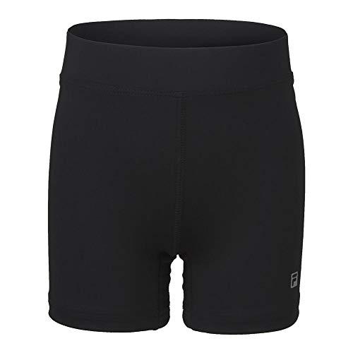 Fila Girl's Ball Comfort Stretch Athletic Shorts (Small, Black)