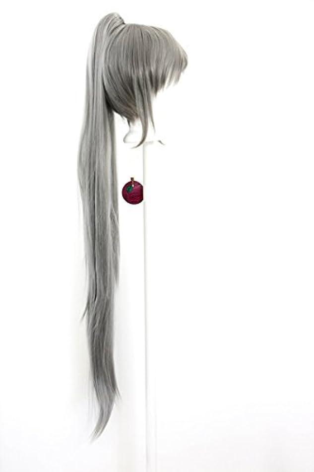 Yoko - Slate Gray Wig 40'' Straight Pony Tail + 11'' Bob Cut Base Wig Set