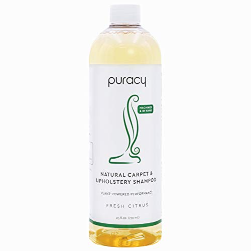 Puracy Professional Carpet Cleaner Machine Detergent, 4X Pet Stain Remover & Deodorizer, Fresh Citrus,Natural,25 Fl Oz (Pack of 1),PCS25