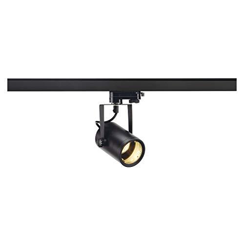 SLV 3 Phasen System Leuchte EURO SPOT / Strahler, LED-Spot, Decken-Strahler, Decken-Leuchte, Schienensystem, Innen-Beleuchtung / GU10 25.0W schwarz