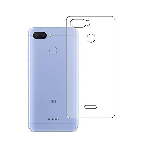 Vaxson 2 Stück Rückseite Schutzfolie, kompatibel mit Xiaomi Redmi 6 / Xiaomi Hongmi 6A, Backcover Skin TPU Folie [nicht Panzerglas/nicht Front Displayschutzfolie]