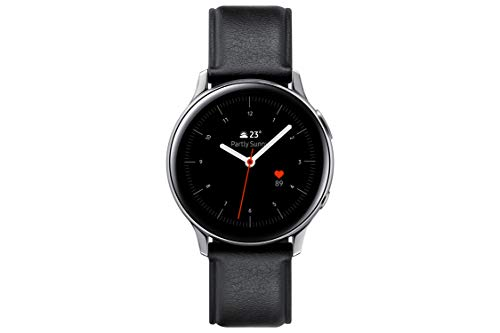 SAMSUNG SM-R820NSSAPHE Galaxy Watch Active 2 - Smartwatch de Acero, 44mm, color Plata, Bluetooth [Versión española]