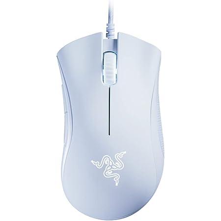 Ratón para juegos Razer DeathAdder Essential, sensor óptico, 6400 DPI, 5 botones programables, interruptores mecánicos, agarres laterales de goma, blanco