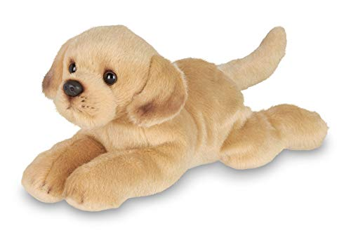 Bearington Lil' Tanner Small Plush Yellow Labrador Retriever Stuffed Animal Puppy Dog, 8 inches