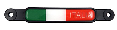 Italia Italy Italian Flag Emblem Screw On Car License plate Decal badge