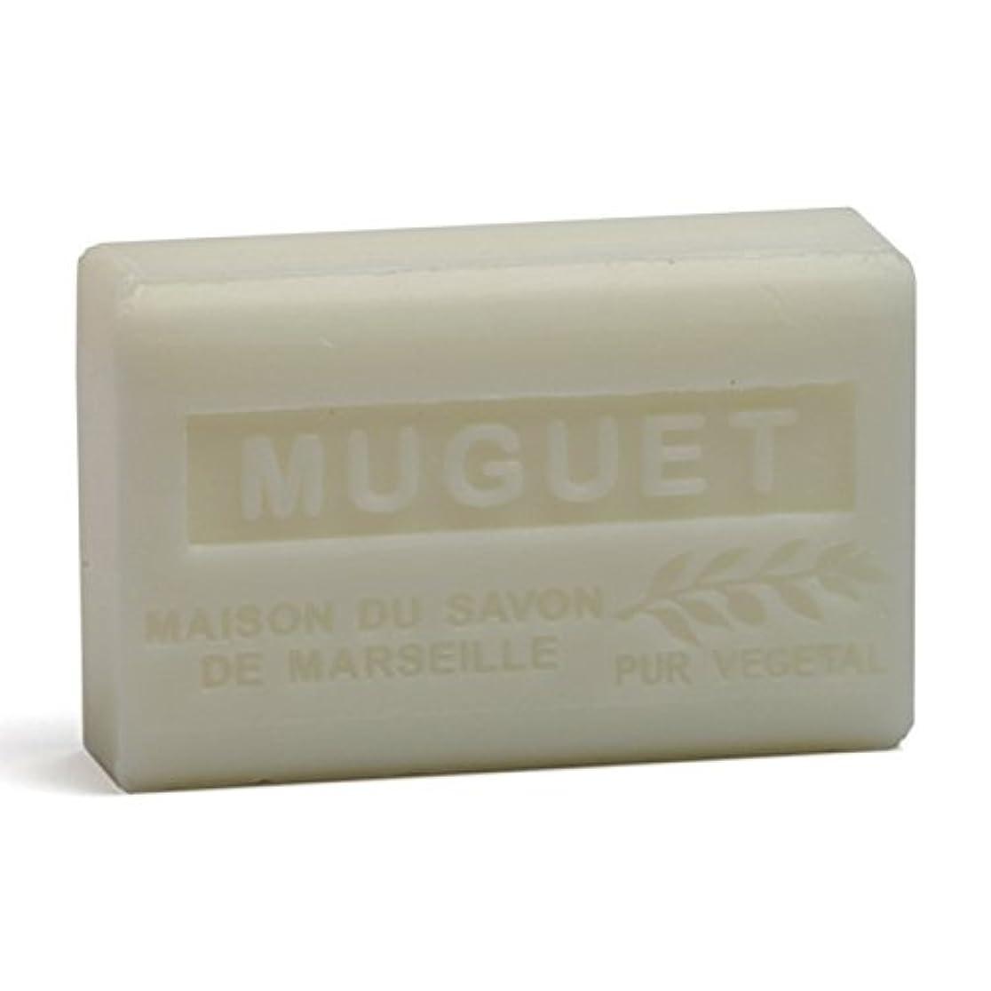 メナジェリー反映する登録Savon de Marseille Soap Lily of the Valley Shea Butter 125g