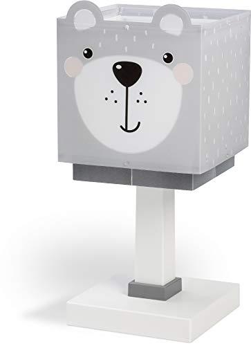 Dalber Kinder Tischlampe Nachttischlampe Little Teddy Bär Tiere, Grau