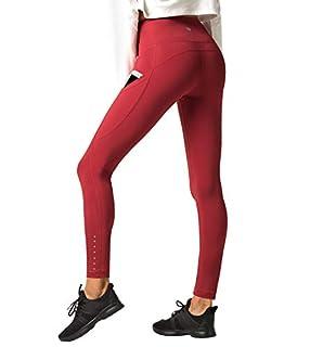 scheda lapasa leggings sportivi da donna vita alta per allenamento yoga palestra l32 (x-large, bordeaux super opaco 2) (m, rosso super opaco)