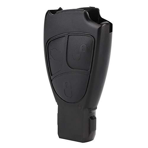Weikeya Carcasa para llave de coche de color negro, ABS hecha de plástico cómodo al tacto, llavero remoto