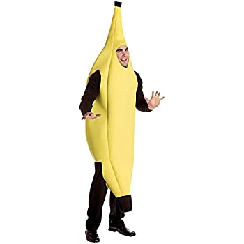 EL CARNAVAL Disfraz plátano Adulto Unisex Hombre/Mujer - Fruta ...