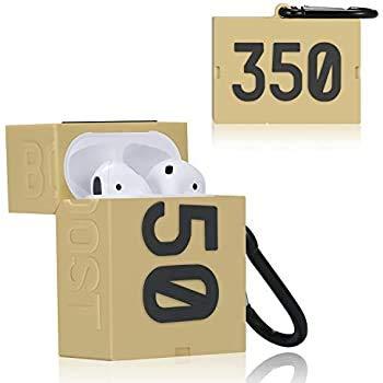 GLAGOODS - Funda protectora para Airpods 1 y 2 Yeezy 350, diseño de piel