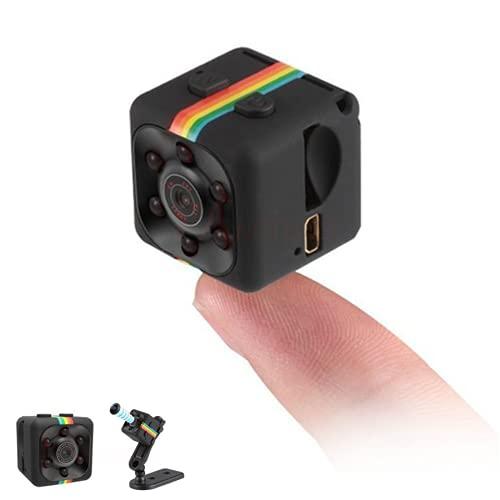 Hxtworld Mini Spy Camera, Sports HD DV SQ11 Mini Dv Camera, Hidden 1080P Micro Nanny Motion Detection Camcorder Infrared Night Vision Digital Video Recorder Outdoor Indoor Office Car DVR Camera