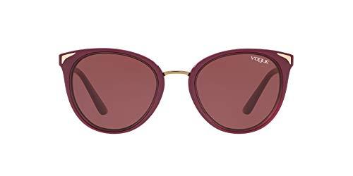Vogue 0VO5230S Gafas de Sol, Top Dark Red/Red Transparente, 54 para Mujer