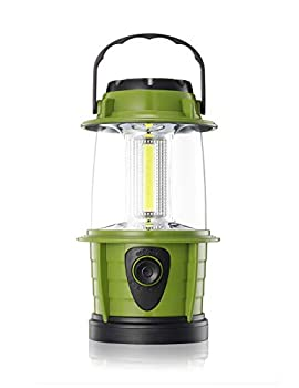 E-TRENDS Portable LED Camping Lantern Flashlight - Dimmable - Survival Kit for Emergency Power Outage Hurricane Battery Powered Green