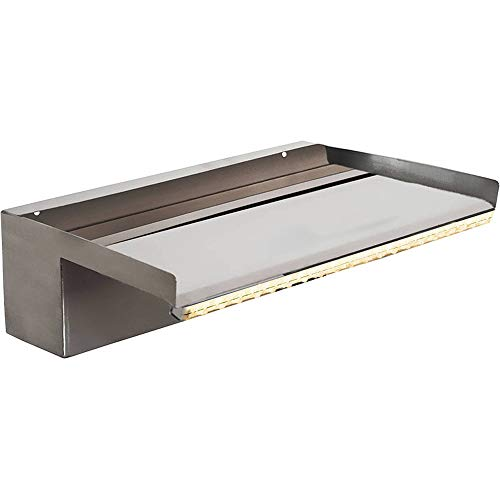 Heissner W483-00 Élément Cascade en Acier Inoxydable avec éclairage LED 30 cm