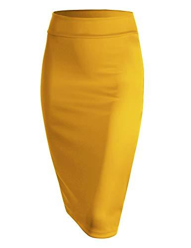 MBJ WB700 Womens Scuba Midi Skirt L Yellow