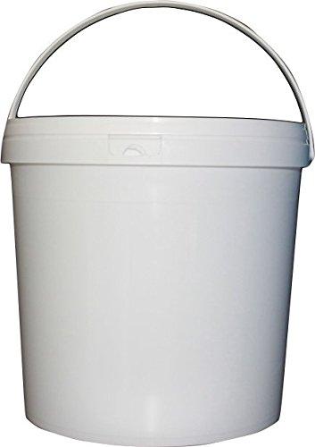 5x SuperLift Kunststoffeimer mit Deckel Industriestandard rund Ø 267mm, Fassungsvermögen 10,8l