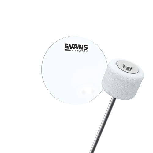 Parche individual para pedal EQ de Evans, plástico transparente.