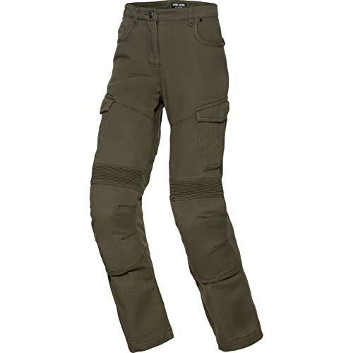 Spirit Motors motor jeans motorbroek motorjeans dames cargo pants 1.0, dames, hakker/kruiser, zomer, textiel