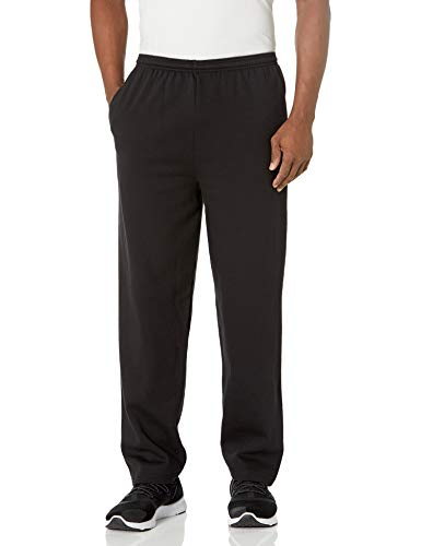 Hanes mens Ecosmart Fleece Sweatpant With Pocket Pants, Black, Large US