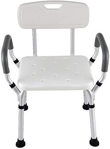YHtech Las heces baño baño heces Comfort Respaldo Ajustable aleación de Aluminio del baño de heces de Ancianos/discapacitados/Embarazada Baño heces Antislip Silla Sillón MAX.158kg