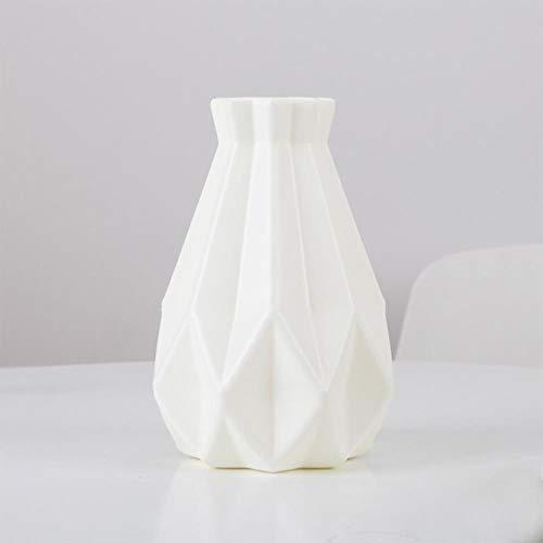 Vase Tragbare Blumenvase Plastikvase Anti-Fall Desktop Wohnzimmer Wohnkultur Schöne Pe Bruchsichere Verzierung Balkon Milchigweiß