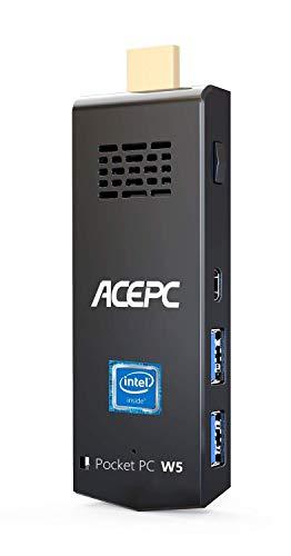 ACEPC Mini PC Stick Intel Atom Z8350 Windows 10 Pro 64bit 8GB DDR3   128GB eMMC,Soporte 4K HD, 2.4G   5G WiFi de Doble Banda AC, BT 4.2